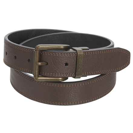 London Fog Burnished Reversible Belt - Leather (For Men) in Brown/Black - Closeouts