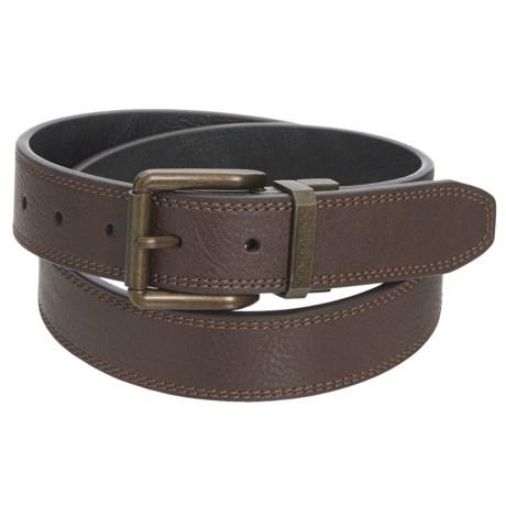 London Fog Burnished Reversible Belt - Leather (For Men) in Brown/Black