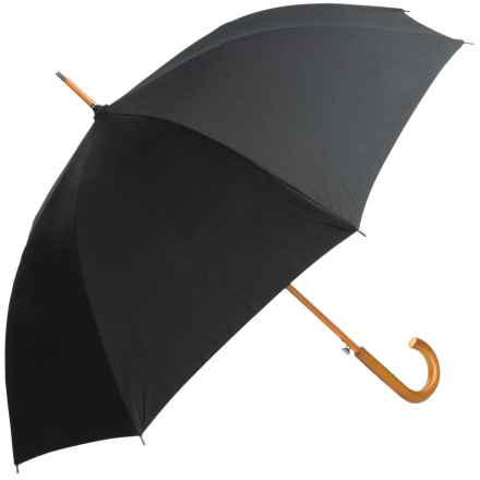 London Fog Classic Auto Stick Umbrella (For Men) in Black - Closeouts
