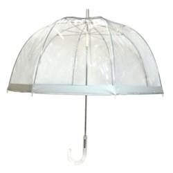 "London Fog Clear Bubble Stick Umbrella - 52"" in Clear"