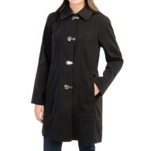 London Fog Clip Front Hooded Jacket (For Women) in Black - Closeouts