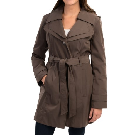 London Fog Double Collar Trench Coat (For Women)
