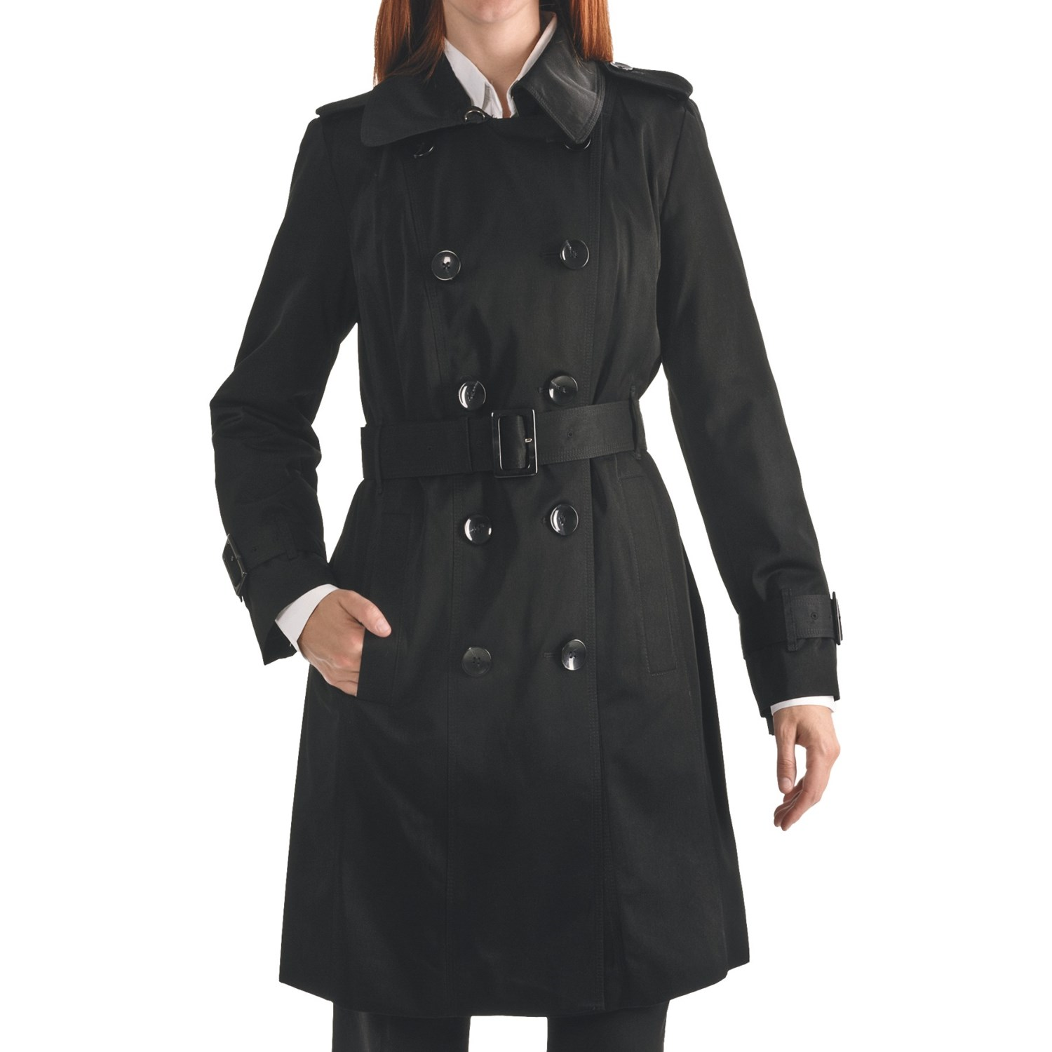 London Fog Snakeskinprint Trench Coat in Black | Lyst