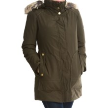 London Fog Fly Front Jacket - Faux-Fur Trim (For Women) in Olive - Closeouts