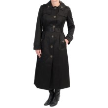 London Fog Hooded Trench Coat (For Women) in Black - Closeouts