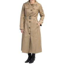 London Fog Hooded Trench Coat (For Women) in Khaki - Closeouts