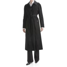 London Fog Hooded Trench Coat - Zip-Out Liner (For Plus Size Women) in Black - Closeouts