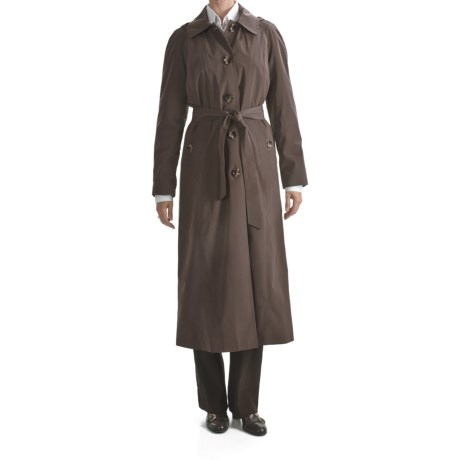 London Fog Hooded Trench Coat - Zip-Out Liner (For Women) in Black