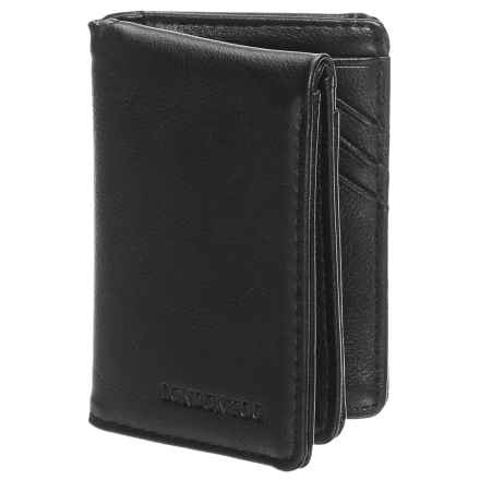 London Fog L-Fold Wallet - Leather (For Men) in Black - Closeouts