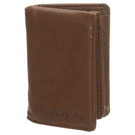 London Fog L-Fold Wallet - Leather (For Men) in Brown - Closeouts