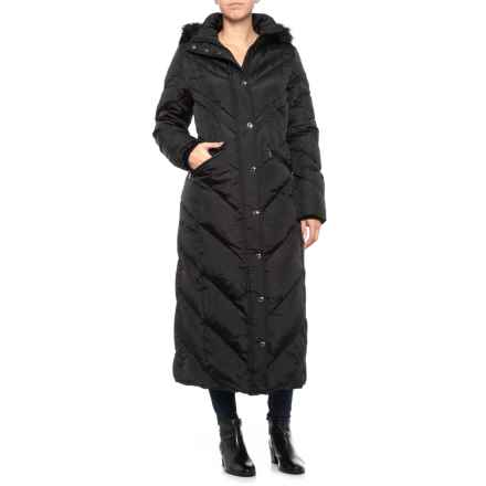 Maxi Down Puffer Coat - Insulated (For Women) in Black - Closeouts