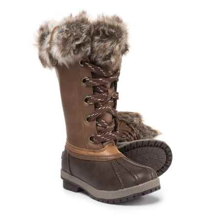 London Fog Melton Snow Boots (For Girls) in Brown - Closeouts