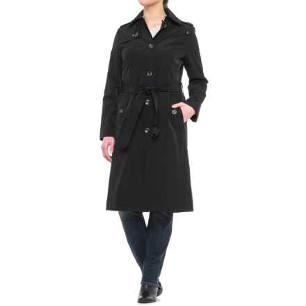 London Fog Midi Trench Coat - Detachable Liner (For Women) in Black - Closeouts