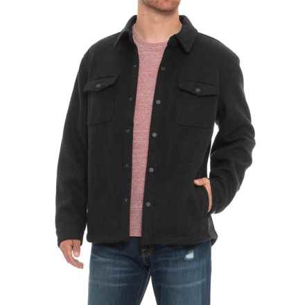London Fog Midweight Shirt Jacket (For Men) in Black Heather - Closeouts