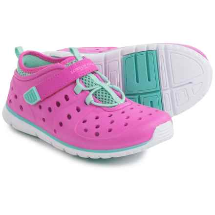 London Fog Mud Puppie Water Shoes (For Toddler Girls) in Hot Pink/Mint - Closeouts