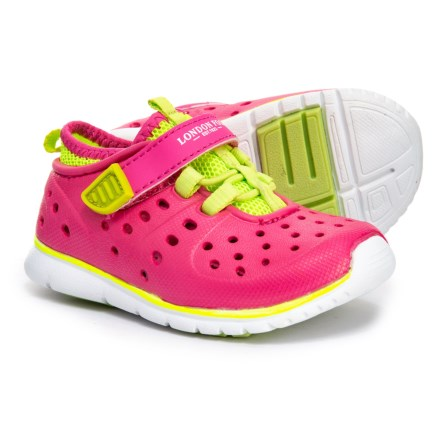 a97858ed237d London Fog Mud Puppies Water Sneakers (For Girls) in Fuchsia Lime