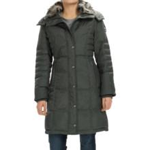 London Fog Puffer Walker Down Coat - Removable Hood (For Women) in Gunmetal - Closeouts