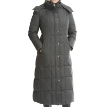 London Fog Quilted Down Trench Coat - Removable Hood (For Women) in Gunmetal - Closeouts
