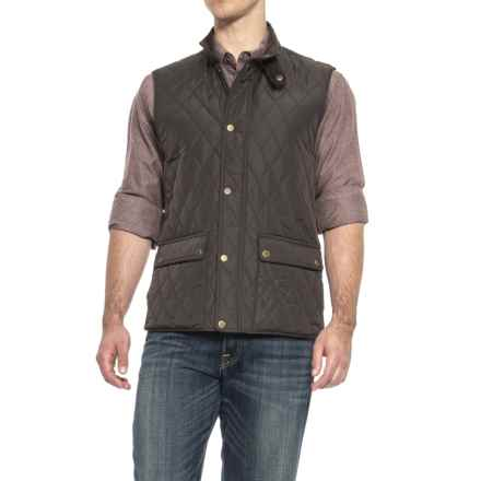 London Fog Quilted Vest - Insulated (For Men) in Brown - Closeouts