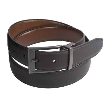 London Fog Reversible Leather Belt (For Men) in Black /Brown - Closeouts