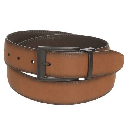 London Fog Reversible Leather Belt (For Men) in Brown/Tan