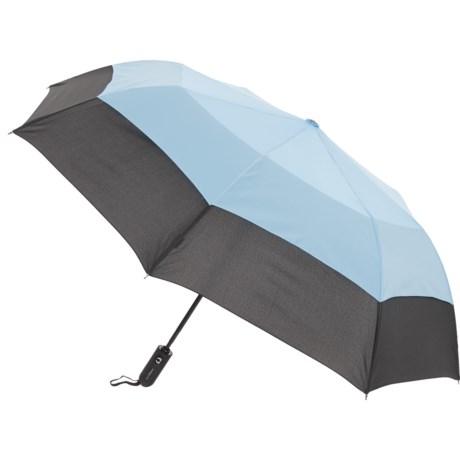 "London Fog Sport Auto Open/Close Umbrella - 38"" in Black/Blue"