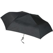 London Fog Tiny Mini Auto Open/Close Umbrella in Black - Closeouts