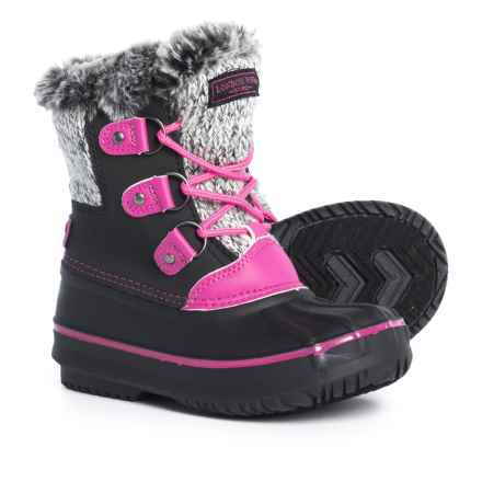 London Fog Tottenham Pac Boots (For Girls) in Black/Pink - Closeouts