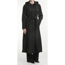 London Fog Trench Coat - Hooded, Zip-Out Liner (For Women) in Black - Closeouts