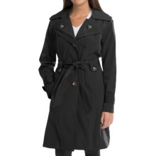 London Fog Trench Coat - Removable Liner Vest (For Women) in Black - Closeouts