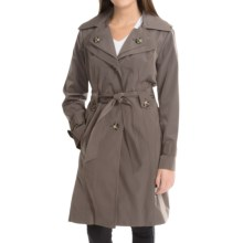 London Fog Trench Coat - Removable Liner Vest (For Women) in Dark Truffle - Closeouts