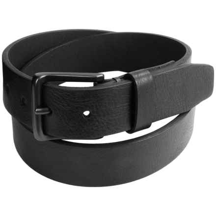 London Fog Tumbled Bridle Leather Belt (For Men) in Black - Closeouts