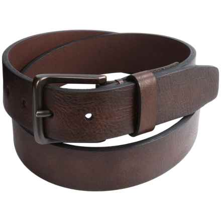 London Fog Tumbled Bridle Leather Belt (For Men) in Brown - Closeouts