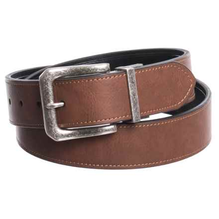 London Fog Twist Reversible Belt - Leather (For Men) in Brown/Black - Closeouts