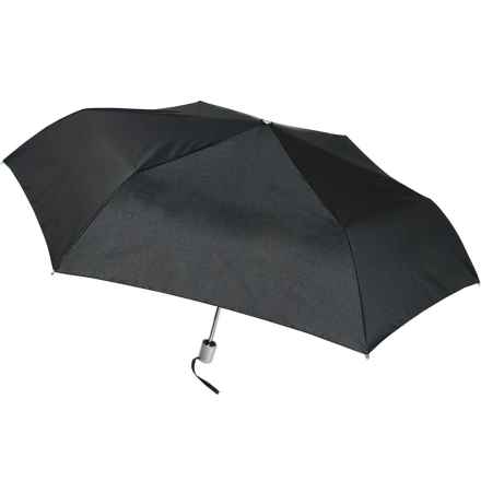 London Fog Ultra Mini Auto Open/Close Umbrella in Black - Closeouts