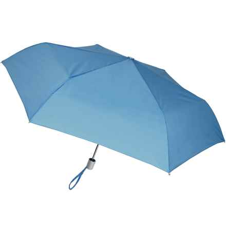 London Fog Ultra Mini Auto Open/Close Umbrella in Sea Blue - Closeouts