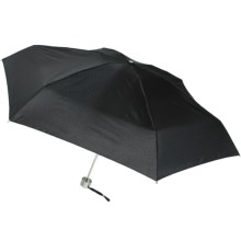London Fog Ultra Mini Manual Umbrella in Black - Closeouts