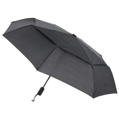 London Fog Vented Umbrella in Black