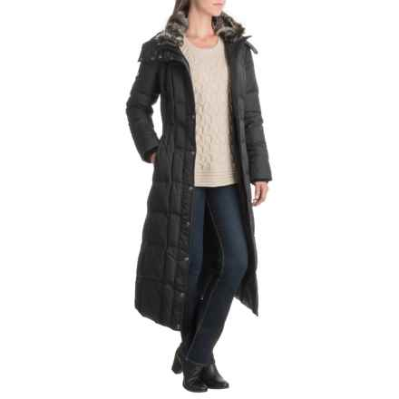 London Fog Walker Hooded Quilted Down Jacket (For Women) in Black - Closeouts