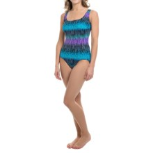 Longitude Africa One-Piece Swimsuit - Double X-Back (For Women) in Blue - Closeouts