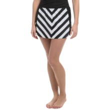 Longitude All-Lined-Up Skirt Cover-Up (For Women) in Black/White - Closeouts