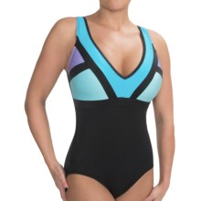 Longitude Between the Lines Swimsuit (For Women) in Mint - Closeouts
