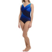 Longitude Brian's Ombre Mesh One-Piece Swimsuit (For Women) in Blue - Closeouts