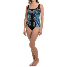 Longitude Heavenly Scoop Neck One-Piece Swimsuit (For Women) in Blue - Closeouts