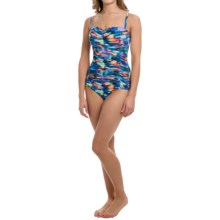 Longitude Lingerie Watercolors One-Piece Swimsuit (For Women) in Multi - Closeouts