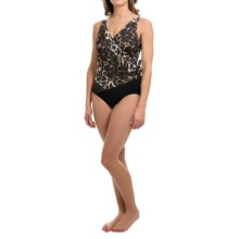 Longitude Maneater One-Piece Swimsuit - Side Tie Surplice (For Women) in Brown - Closeouts