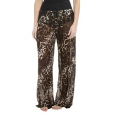 Longitude Mesh Tie-Front Pants (For Women) in Maneater - Closeouts