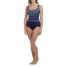 Longitude Rio Grande One-Piece Swimsuit - Double X-Back (For Women) in Blue - Closeouts