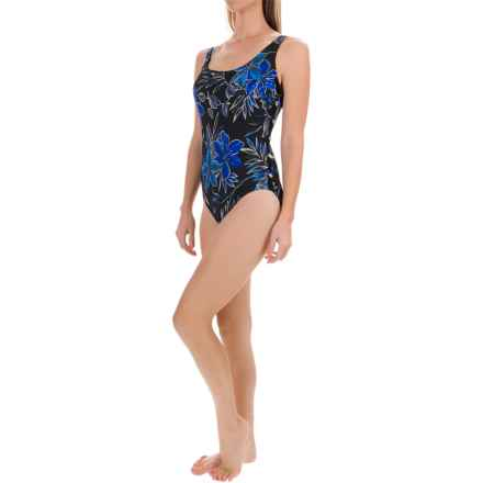 Longitude Samurai Beaded One-Piece Swimsuit (For Women) in Blue - Closeouts