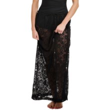 Longitude Sheer Love Lace Maxi Skirt Cover-Up (For Women) in Black - Closeouts